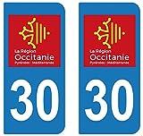 supstick 2Sticker Selbstklebend Nummernschild-Dept 30Region Okzitanien