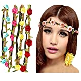 8pcs/pack Summer Fashion Womens Flower Headband Bohemia Bridal Headdress Hairband Styling Accessories For Women Ladies Girls by HABI