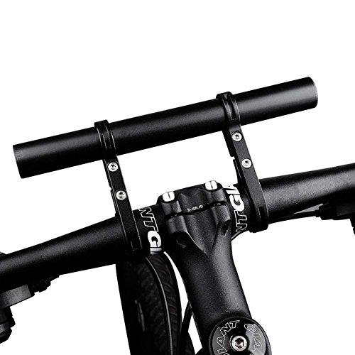 West Radfahren Fahrrad Lenker Extender; langlebiges, leichtes Fahrrad Taschenlampe Scheinwerfer Tacho Phone Halterung Fahrrad Zubehör Mount, Kinder Herren damen, schwarz