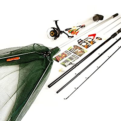 Matt Hayes Adventure Complete Fishing Set 12ft Match Rod / Reel / Line / Net / End Tackle / Bait & Fishing Guide Book - Ideal Starter / Introduction Kit [99-1415694] from FLADEN