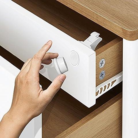 Matana magnetisches Sicherheitsschloss für Schränke und Schubladen–kinder- und baby-sicher (12Schlösser, 3Schlüssel)