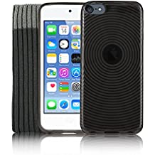 Kolay® iPod Touch 6 Funda, Negro Funda de silicona Gel TPU Silicona, Protector de pantalla, Calcetín Cover para Apple iPod Touch 6 6G 6th Generation (6.GEN)