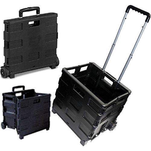 25kg Shopper Klappbarer Trolley Speicher Kofferraum Cart Box Box Car Van Camping Schwarz Aluminium Griff mit Kunststoff GRIP leicht Langlebig & rostfrei Marke New