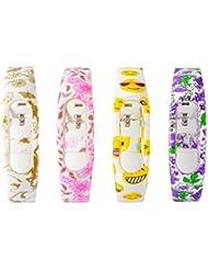 XCSOURCE® 4Stk TPU Handgelenk Gurt Bügel Satz Wristband Armband Zusätze für Xiaomi Mi Band 2 Smartwatch TH637