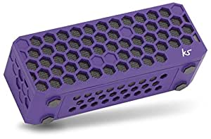 KitSound Hive Bluetooth Wireless Portable Stereo Speaker for iPhone/iPad/Android/Windows Devices - Purple