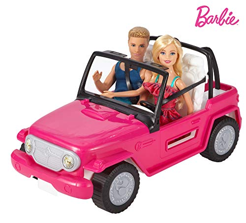 Barbie - Muñeco Ken y muñeca Barbie con su coche de...