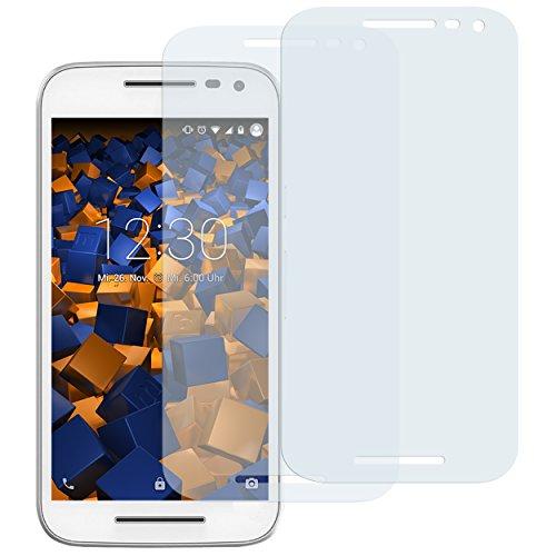 mumbi Schutzfolie kompatibel mit Motorola Moto G 3. Generation Folie klar, Bildschirmschutzfolie (2x)