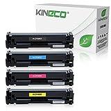 Kineco 4 Toner kompatibel zu HP Color Laserjet Pro M252dw Pro 200 M252n Farblaserdrucker kompatibel zu CF-400X CF-401X CF-402X CF-403X, Schwarz 2.800 Seiten, Color je 2.300 Seiten