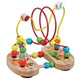 Best High Chair Toys - Childrens Wooden Toy Bead Maze, Fox Design Review