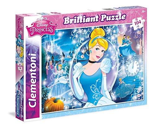 Clementoni - 201327 - Brillant Puzzle - Cendrillon - 104 Pièces