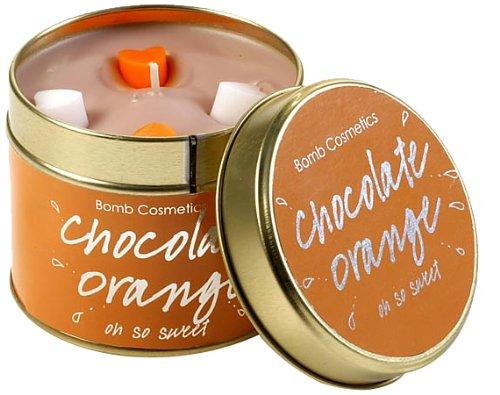 Bomb Cosmetics - Vela aromática en lata (aroma de chocolate y naranja)