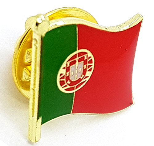 National Land Flagge Portugal Emaille Brosche | Hohe Qualität Metall Emaille Pin Badge Revers Brosche Neuheit zum Sammeln Geschenk Schmuck für Kleidung Shirt Jacken Mäntel Krawatte Hüte Kappen Taschen Rucksäcke (Portugal Mantel)