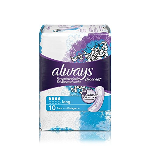 always-discreet-sensitive-bladder-long-pads-10-per-pack-case-of-5