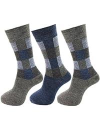 RC. ROYAL CLASS WARM WOOLEN TERRY/TOWEL MULTICOLORED SOCKS FOR MEN PACK OF 3 (Winter wear Multicolored Socks)