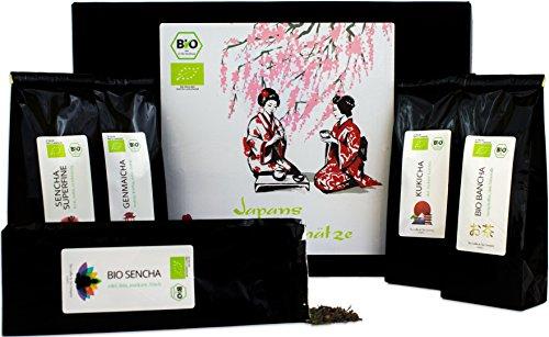 C&T Japans Schätze professional | 5 Sorten Bio Grüner Tee aus Japan | Organische Grüntees zum Genießen & Geschenk Set - Länder Tee einmal um die Welt (Grüner Tee Ct)