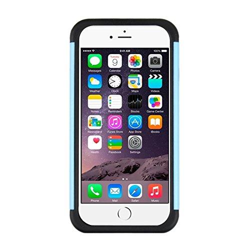 Phone case & Hülle Für IPhone 6 Plus / 6S Plus, Fußball Textur Kunststoff Fall ( Color : Grey ) Blue