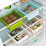 #3: Sterling Bazaar Plastic Kitchen Refrigerator Fridge Storage Drawer Rack Freezer Shelf Holder Kitchen Organization (Set of 1),Multicolor