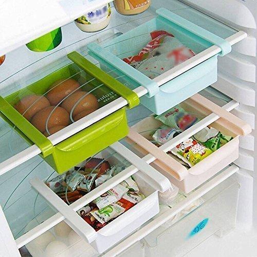 Sterling Bazaar Plastic Kitchen Refrigerator Fridge Storage Drawer Rack Freezer Shelf Holder Kitchen Organization (Set of 1),Multicolor  available at amazon for Rs.180