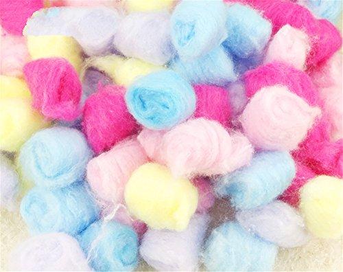 Fully 5X packete Criceto caldo cotone imbottitura palline per sonno Casa Letto Invernale coniglio Ratti piccoli animali Chinchilla (colore casuale)