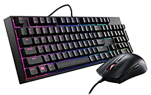 Cooler Master MasterKeys Lite L Combo Mem-chanical Gaming Keyboard and Mouse 'Full Size, RGB LED, Mem-Chanical' SGB-3040-KKMF1-UK