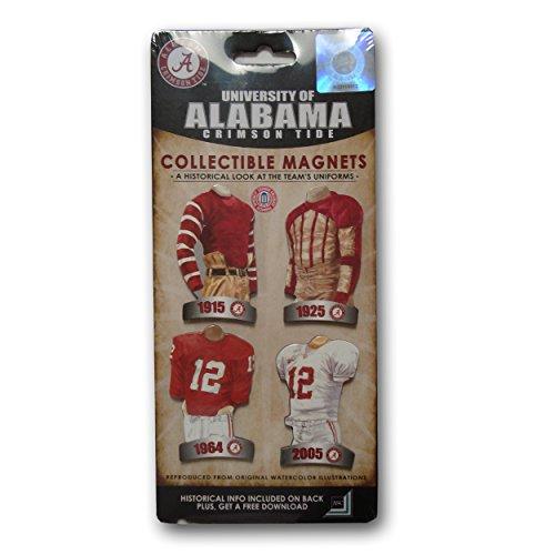 Alabama Uniform (LSG Universität Alabama NCAA 5Pakete der 4Stück Uniform Magnet-Set)