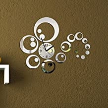 URAQT 3D Modern Wanduhr Acryl, DIY Kreatives Design, Groß Dekoration Uhr  Deko Wandtattoo,