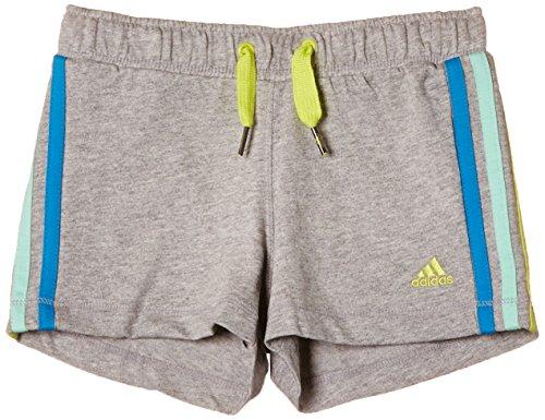 adidas Essentials Knit Pants Girl's grau Medium Grey Heather/Solar Blue2 S14/Clear Mint F11/Bahia Glow S14 Size 164