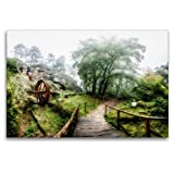 Calvendo Premium Textil-Leinwand 120 cm x 80 cm quer, Regensteinmühle   Wandbild, Bild auf Keilrahmen, Fertigbild auf echter Leinwand, Leinwanddruck Orte Orte