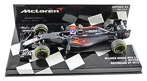 Minichamps 537164322-McLaren Honda MP4-31-GP Australia 2016-Escala 1/43-Negro/Rojo