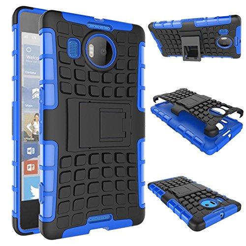 YHUISEN Lumia 950 XL Case, Dual Layer Rüstung Schockabsorbierende Schutzhülle mit Kickstand Für Microsoft Lumia 950 XL ( Color : Purple ) Blue