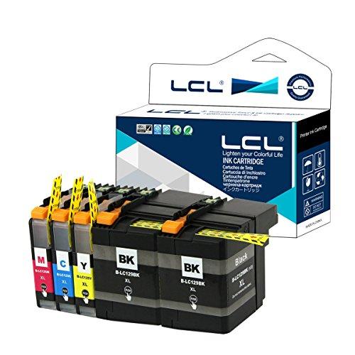 5-Pack LCL LC129XL LC125XL LC129XLBK LC125XLC LC125XLM LC125XLY (2Noir Cyan Magenta Jaune) Cartouche d'encre Compatible pour Brother MFC-J6520DW J6720DW J6920DW