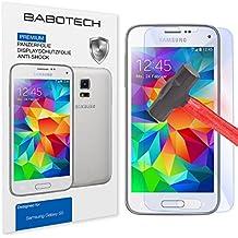 1 x Set BaboTech® Premium Panzerfolie Display Schutzfolie für Samsung Galaxy S5 Klar Extrem Shock-Absorbierend