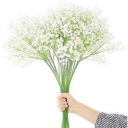 JUSTOYOU Tall Gypsophila Künstliche Blumen White Fake Blumen für zu Hause Hochzeit Party Dekoration