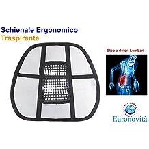 Schienale ergonomico supporto lombare per sedie sedile auto e poltrona da ufficio