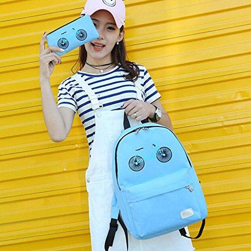 Y&F Weiblich Mutterpaket Nylontasche Schultertaschen Handtasche 40 * 12 * 30 cm Blue