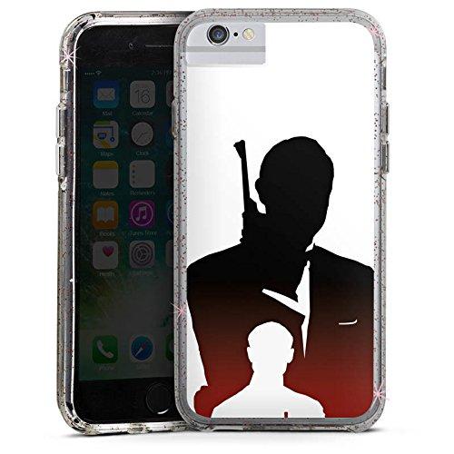 Apple iPhone 6s Plus Bumper Hülle Bumper Case Glitzer Hülle James Bond 007 Bumper Case Glitzer rose gold