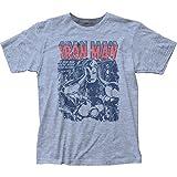 Impact Iron man tony stark superhelden marvel-comics maskieren ausgestattet jersey-T-shirt für Herren Groß Blau