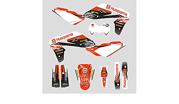 Jfg Racing Custom Motorrad Komplettkleber Aufkleber Aufkleber Grafik Kit Für Husqvarna Tc 250 450 510 2005 2007 Auto