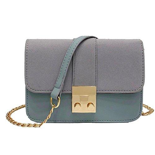 Kangrunmy borsa donna colore puro messenger borse tracolla borse tracolla donna estive borse tracolla donna elegante (blu)