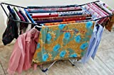 Celebrations Fast Dry Cloth Dryer Stand - Sturdy And Sleek Folding Clothes Drying Stand For Drying All Kinds Of Indian Attires(Random Color)