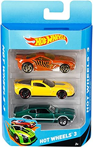 Hot Wheels - K5904 - Véhicule sans Piles - Pack de 3 voitures