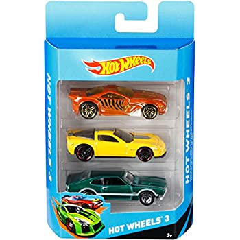 hot wheels k5904 vhicule sans piles pack de 3 voitures modele aleatoire - Voitures Hot Wheels