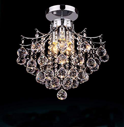 DGHDFH Moderne Kristall Chrom Finish Kronleuchter Art Deco für Wohnzimmer Schlafzimmer Restaurant Studie mit 3 Lichtern ● - Chrom-finish 3-lampe