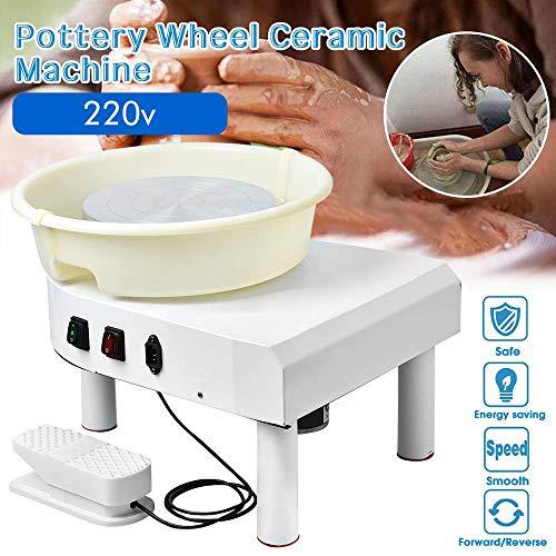 HUKOER Pottery Forming Machine Töpferscheibe 25CM, 350W Elektrische Töpferscheibe mit Fußpedal und abnehmbarem Becken für Keramik Clay Art Craft DIY Clay