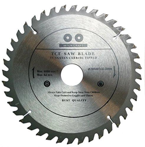 Inter-Craft 200mm Sägeblatt Top Qualität Kreissägeblatt für Holz 200 x 32-30 mm x 40Z