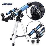 Aomekie Telescopio Astronomico Telescopio Niños con Trípode Adaptador para Teléfono Filtro de Luna y Lente 3X Barlow (F40040MM)