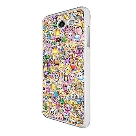 000925 - Collage Multi Smiley Faces Emoji Design Samsung Galaxy J3 (2017) Coque Fashion Trend Case Coque Protection Cover plastique et métal - Blanc