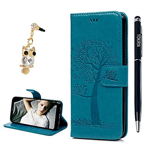 S8 Plus Case, YOKIRIN Owl Tree Relief Embossed Premium PU Leather Wallet Folio Flip Stand Cover Case With Card Slots Cash Pouch Drop-Protection Bumper Shell for Samsung Galaxy S8 Plus