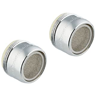 AM Conservation Group, Inc. FA012CPB1-WS-2 Simply Conserve Two Pack of Low Flow 1.5 GPM WaterSense Standard Faucet Aerators