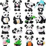 16 Pezzi Carino Panda Animale Mini Figurine Playset Mini Panda Torta Topper Panda Decorazione Craft per Bambini Festa Favori Divertimento Ufficio Casa Decorazione